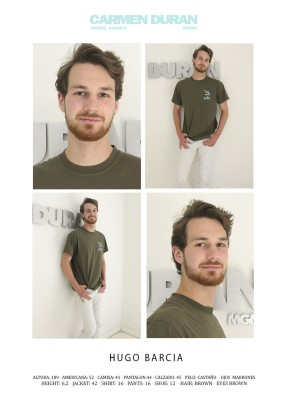 HUGO BARCIA. Carmen Duran Model Agency.
